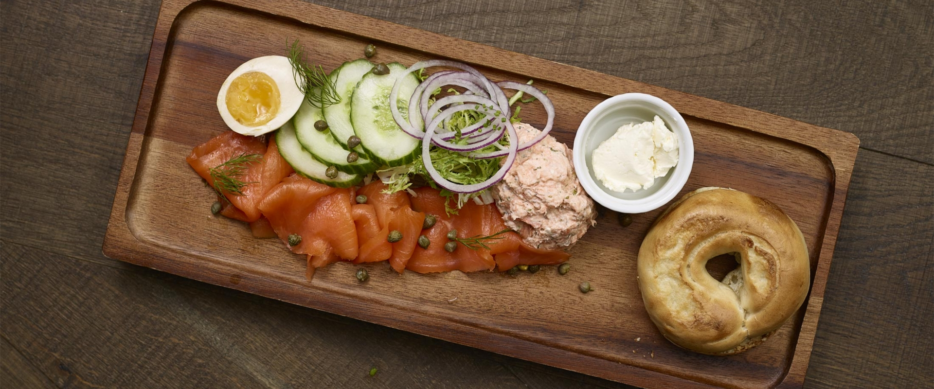 Smoked salmon board from Honey Salt
