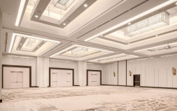 Large empty Kitsilano ballroom at Parq Vancouver