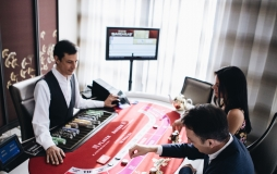 People playing baccarat